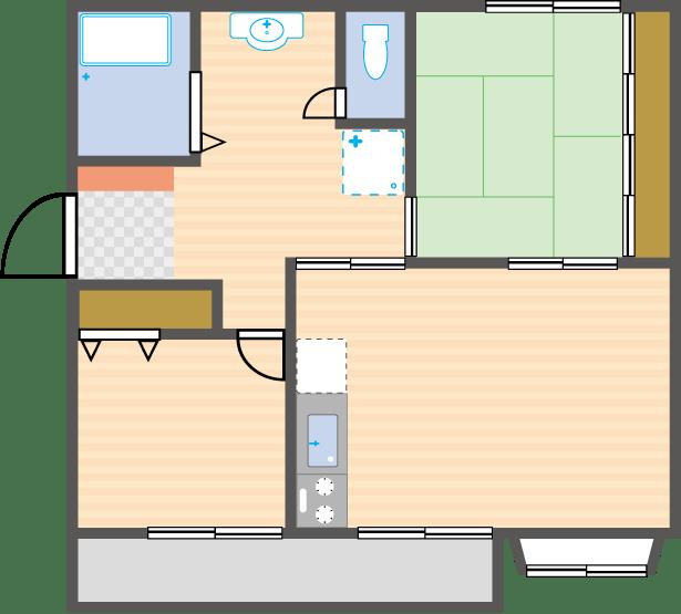 マンションの室内